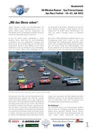 Rennbericht Lauf 4 - FHR
