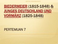 Biedermeier (1815-1848) & Junges Deutschland und ... - File UPI