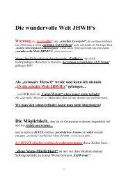 Die wundervolle Welt JHWHs