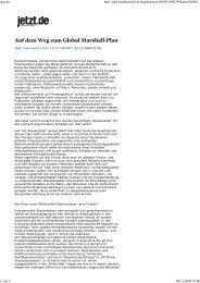 jetzt.de - - Global Marshall Plan