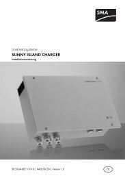 SUNNY ISLAND CHARGER - Installationsanleitung - SMA Solar ...