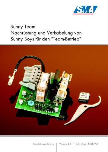 Sunny Team Nachrüstung und Verkabelung von Sunny Boys für den ...