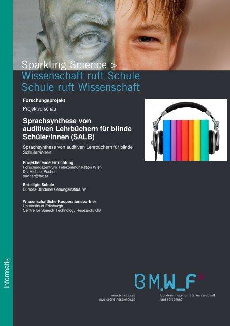 Sprachsynthese von auditiven Lehrbüchern für ... - Sparkling Science
