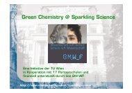 Green Chemistry @ Sparkling Science