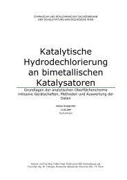 Katalytische Hydrodechlorierung an ... - Sparkling Science