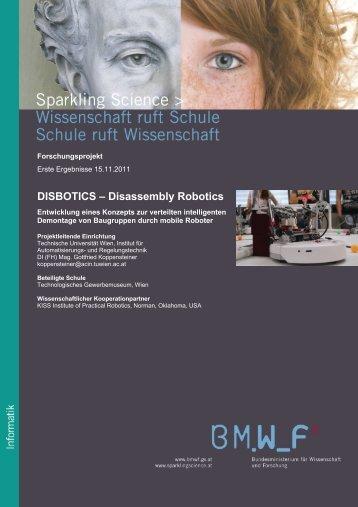 DISBOTICS – Disassembly Robotics - Sparkling Science