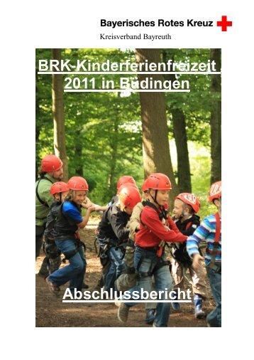 BRK-Kinderferienfreizeit 2011 in Büdingen Abschlussbericht - CMS