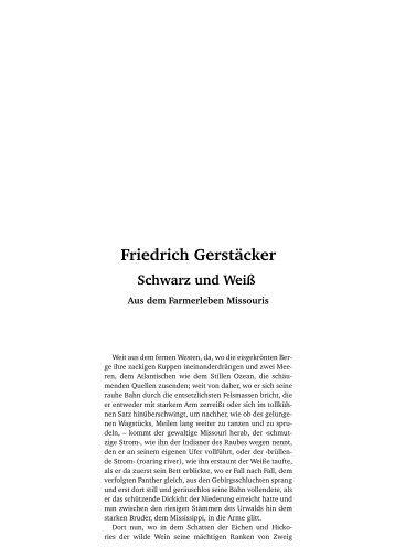 Friedrich Gerstäcker Schwarz und Weiß