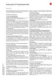 Bedingungen für Wertpapiergeschäfte - Sparkasse Bremen