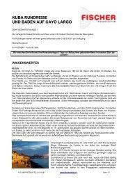 Kuba Rundreise & Baden auf Cayo Largo - Fischer-reisen.at