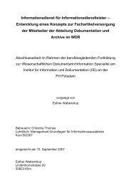 Informationsdienst für Informationsdienstleister Entwicklung eines ...