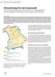 42 Klima-Konzept für den Staatswald - Bayerische Staatsforsten