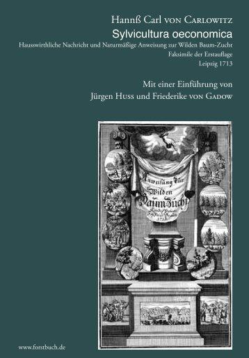 Für eine Leseprobe der Einführung (Huss, von ... - Forstbuch.de