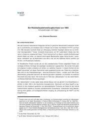 Der Reichsdeputationshauptschluss von 1803 - fowid ...