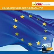 gRundsatzpapIER zuR EuRopapoLItIk - CDU-Fraktion