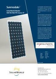 Solarworld Modul SW 155/165/175 mono ST