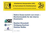 Interne Dosimetrie - Fachverband für Strahlenschutz eV