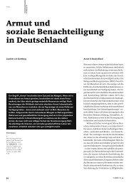 Armut und soziale Benachteiligung in Deutschland - FSF