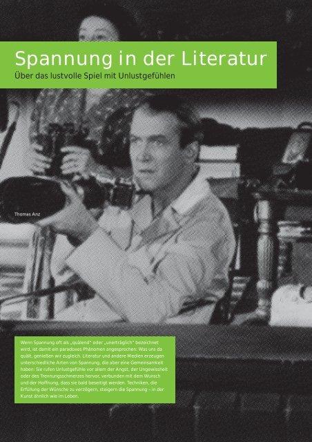 """T. Anz: """"Spannung in der Literatur"""" - FSF"""