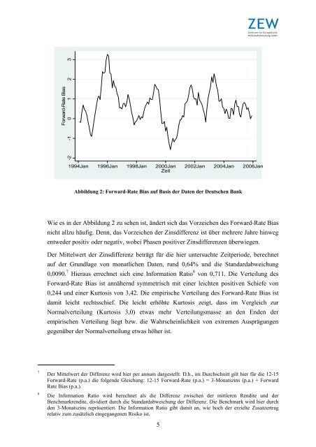 """""""Analyse der Forward-Rate Bias Strategie der Deutschen Bank"""""""
