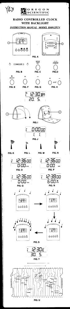 Page 1 SCIENTIFIC OREGON RADIO CONTROLLED CLOCK WITH ...