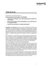 Pressemitteilung: Funkwerk gewinnt neue Kunden in ... - Funkwerk AG