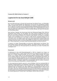 Lagebericht für das Geschäftsjahr 2009 - Funkwerk AG