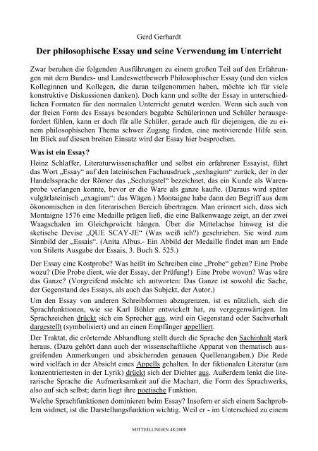 Gerd Gerhardt Fachverband Philosophie E V