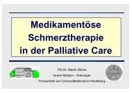 Medikamentöse Schmerztherapie in der Palliative Care
