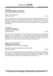Buchhandlung Gastl Theologische Neuerscheinungen Frühjahr ...