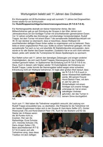 Rudolf Trappe 1 Schläger-Turnier