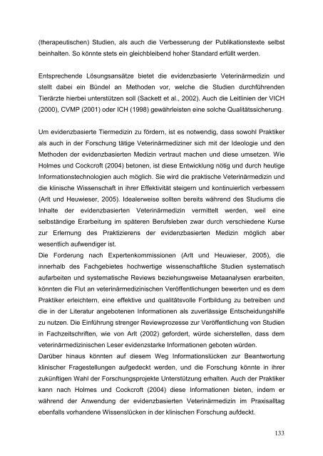 Untersuchungen zur evidenzbasierten Auswertung therapeutischer ...