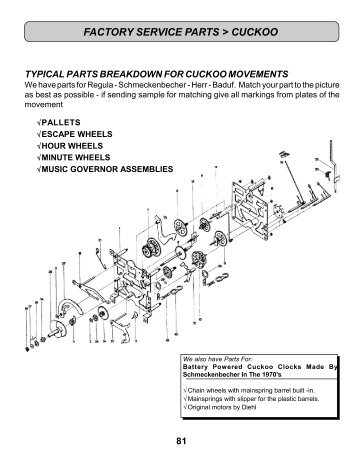 Clock Movement Parts Diagram Trusted Wiring Diagrams