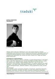 NIKOLA MADZIROV Mazedonien Geboren 1973 in ... - Traduki
