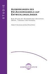 Auswirkungen des EU-Zuckerhandels auf ... - Germanwatch