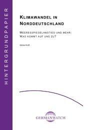 Klimawandel in Norddeutschland - Germanwatch