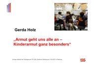 "Gerda Holz ""Armut geht uns alle an – Kinderarmut ganz besonders"""