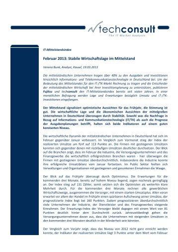 Februar 2013: Stabile Wirtschaftslage im Mittelstand - Fujitsu