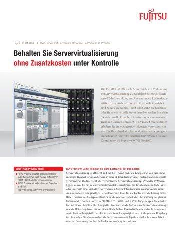 Behalten Sie Servervirtualisierung ohne Zusatzkosten unter ... - Fujitsu