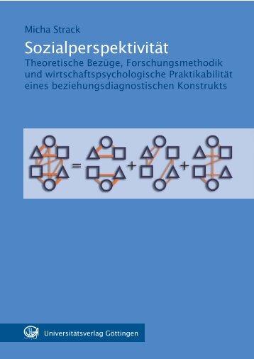 Sozialperspektivität : theoretische Bezüge, Forschungsmethodik und ...