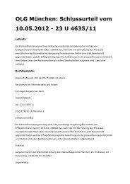 Prozessfinanzierungsverträge der Kanzlei MMG sind ... - GoMoPa