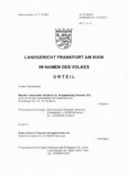 LG Frankfurt am 10.8.07 gegen Gerlachs Transparent - GoMoPa