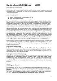 Rundbrief der GRÜNEN Essen 9-2008 - Die Grünen Essen