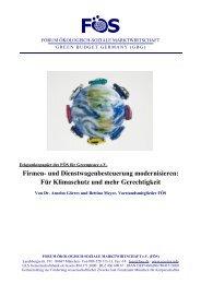 Eckpunktepapier der FÖS (PDF, 404 KB) - Greenpeace Gruppen in ...