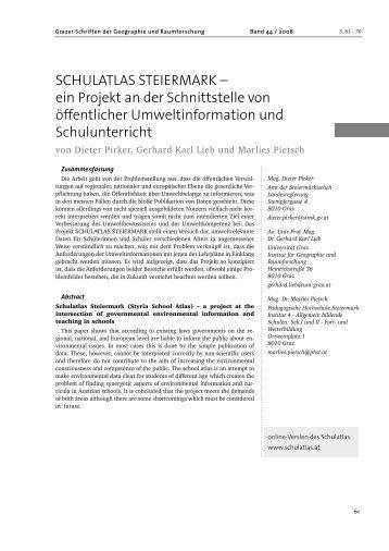 SCHULATLAS STEIERMARK - Regionales Fachdidaktikzentrum für ...
