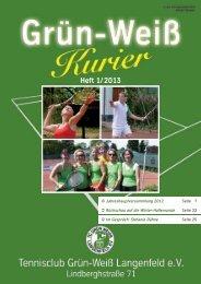 Ausgabe 1/2013 - zum 4. GWL Sparkasse Langenfeld cup 2013