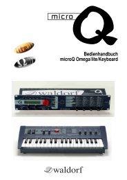 Bedienhandbuch microQ Omega/lite/Keyboard - Electro-Music
