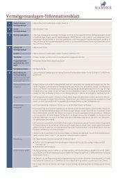 Vermögensanlagen-Informationsblatt - Habona Invest