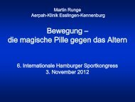 Bewegung - Internationaler Hamburger Sport-Kongress