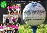 Mannschafts-News 2012 - Gelsenkirchener Golfclub Haus Leythe e.V.
